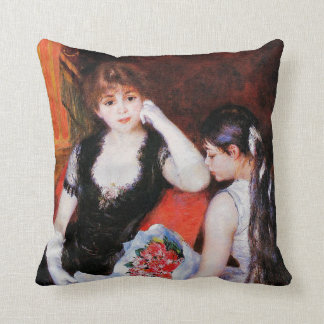 Renoir - At the Concert-Box at the Opera Throw Pillow