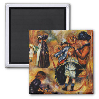 Renoir: At the Luxembourg Gardens Square Magnet