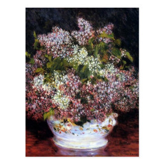 Renoir Bouquet of Flowers Fine Art Postcard