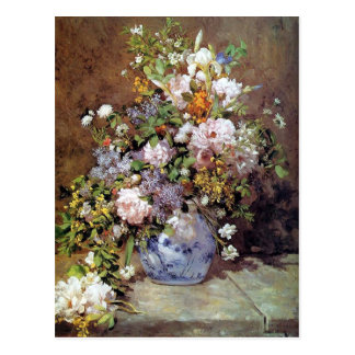 Renoir Bouquet of Spring Flowers Postcard