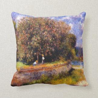 Renoir - Chestnut Tree Blooming, 1881 Throw Pillow