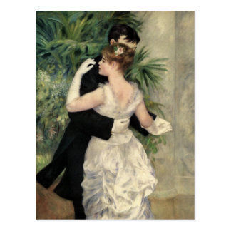 Renoir Dancing in the City Fine Art Postcard