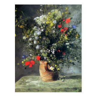 Renoir, Flowers in a Vase post card