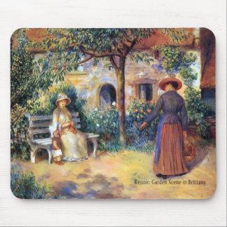 Renoir: Garden Scene in Brittany Mouse Pad