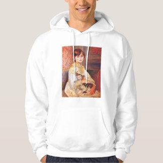Renoir Girl With Cat Hoodie