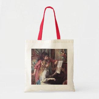 Renoir: Girls at the Piano Budget Tote Bag