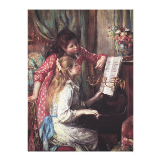 Renoir: Girls at the Piano Canvas Print