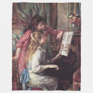 Renoir: Girls at the Piano Fleece Blanket