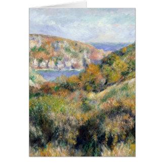 Renoir Hills around Bay of Moulin Huet Guernsey Card