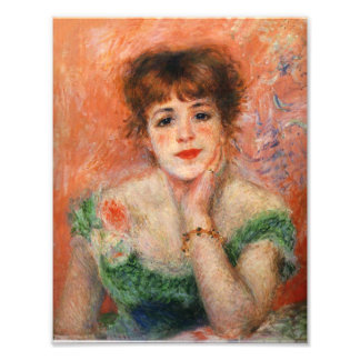 Renoir Jean Samary in a Low Necked Dress Print