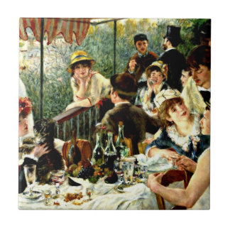 Renoir - Luncheon of the Boating Party-1881 Tile