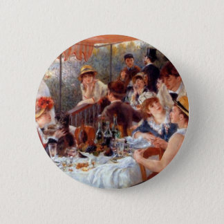 Renoir - Luncheon of the Boating Party 2 Inch Round Button