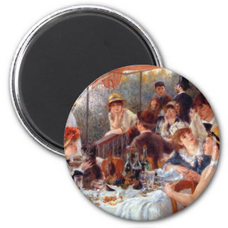Renoir: Luncheon of the Boating Party 2 Inch Round Magnet