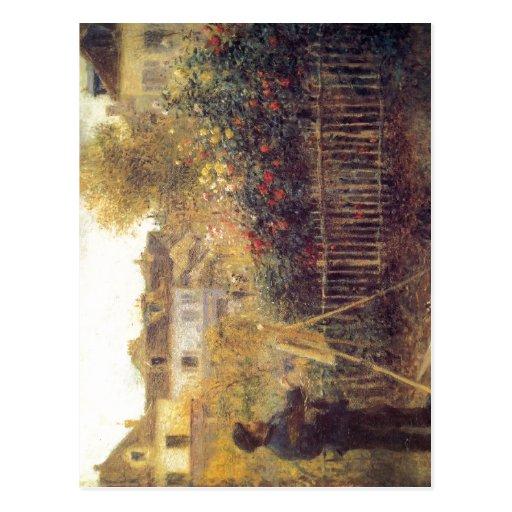 Renoir, Pierre-Auguste Monet beim Malen in seinem  Postcards