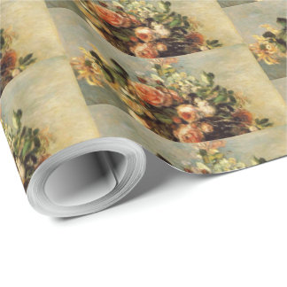 Renoir Roses and Jasmine in a Delft Vase Wrapping Paper