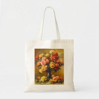 Renoir Roses in a Vase Tote Bag