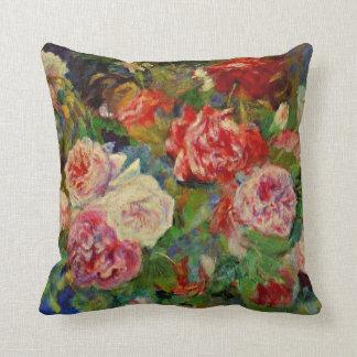 Renoir - Roses Throw Pillow