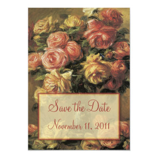Renoir Roses Wedding Save the Date Notice Card