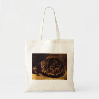 Renoir Sleeping Cat Tote Bag