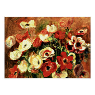 Renoir - Spray of Anemones Poster