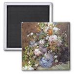 Renoir - Spring Bouquet Square Magnet