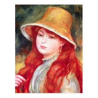 Renoir Straw Hat Postcard