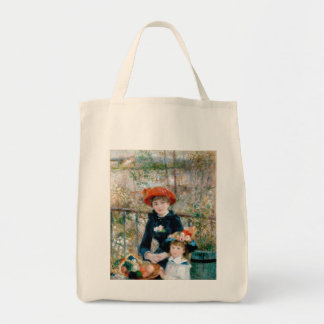 Renoir -The Two Sisters On The Terrace - 1881 Grocery Tote Bag