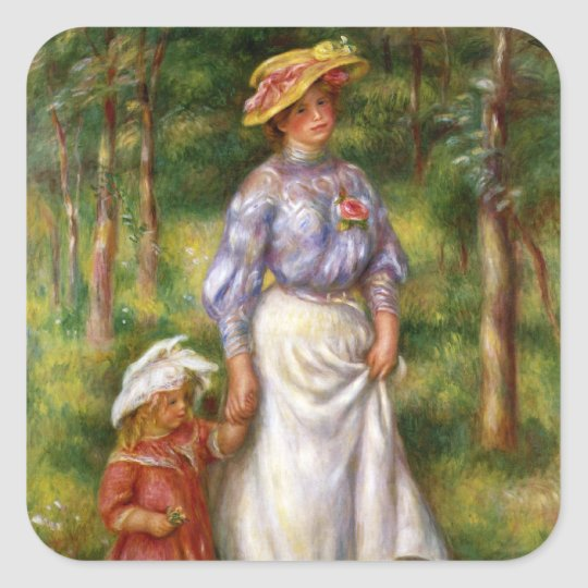 Renoir: The Walk Square Sticker