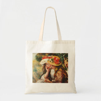 Renoir Two Girls Reading in the Garden Tote Bag