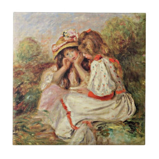 Renoir - Two Little Girls Tile