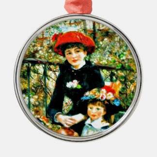 Renoir - Two Sisters on the Terrace Metal Ornament