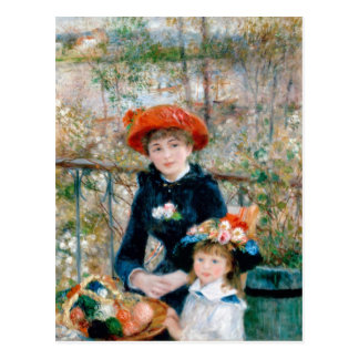 """Renoir """"Two Sisters (On the Terrace)"""" Postcard"""