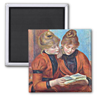 Renoir: Two Sisters Square Magnet