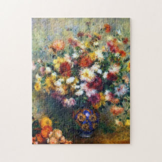 Renoir Vase of Chrysanthemums Fine Art Jigsaw Puzzle