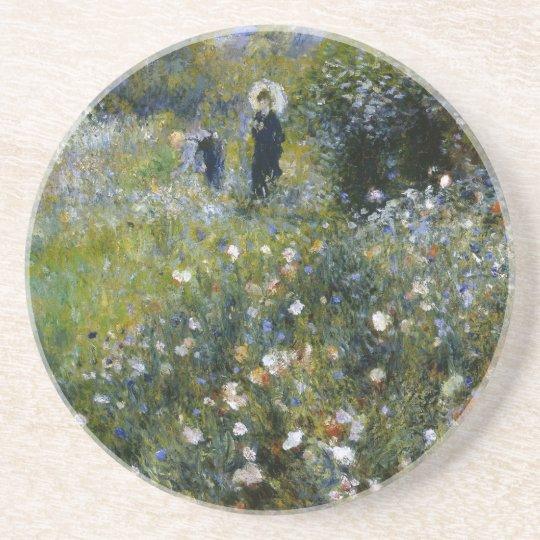 Renoir Woman with Parasol in Garden Coaster