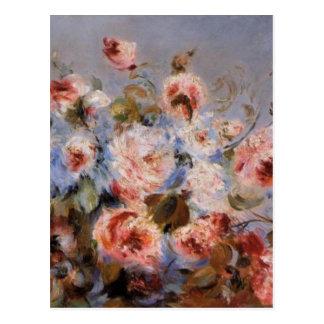 Renoir's A Bouquet of Roses Postcard