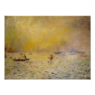 Renoir's A View of Venice Fog Poster