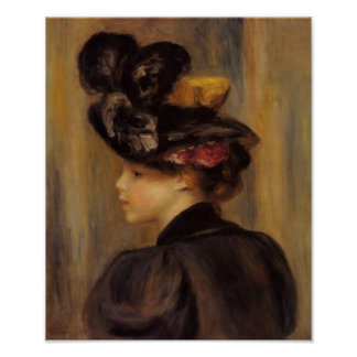 Renoir's A Young Woman Wearing a Black Hat Poster