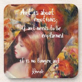 Renoir's art is full of emotions coaster