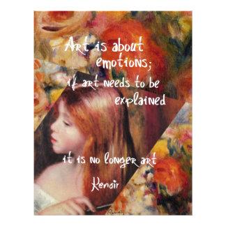 Renoir's art is full of emotions custom letterhead