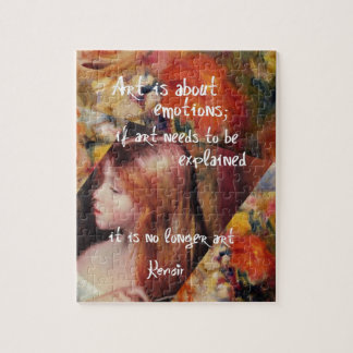 Renoir's art is full of emotions jigsaw puzzle