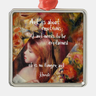 Renoir's art is full of emotions metal ornament