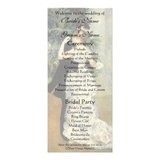 Renoir's City Dance Wedding Program Customized Rack Card