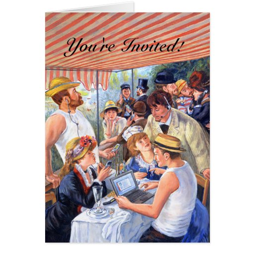 Renoir's Luncheon 2.0/ Invitation Greeting Cards