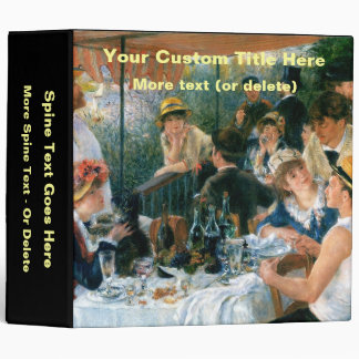 Renoir's Luncheon of the Boating Party (1881) 3 Ring Binders