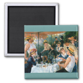 Renoir's Luncheon of the Boating Party (1881) Square Magnet