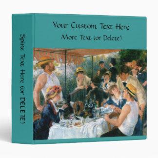 Renoir's Luncheon of the Boating Party (1881) Vinyl Binder