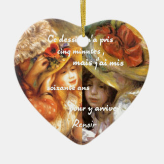 Renoir's paintings is plenty of love ceramic ornament