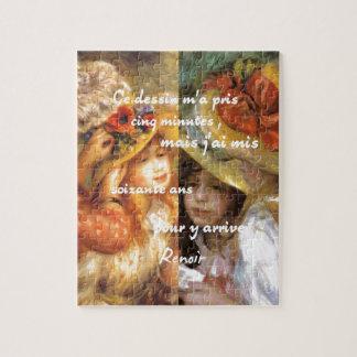 Renoir's paintings is plenty of love jigsaw puzzle