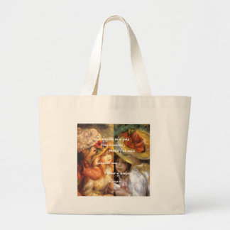 Renoir's paintings is plenty of love large tote bag